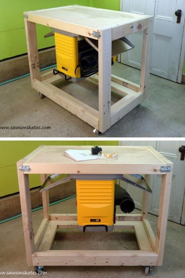 2×4 Flip-Top Workbench Cart