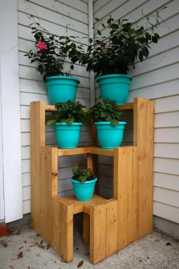 3-Tiered Corner Plant Stand