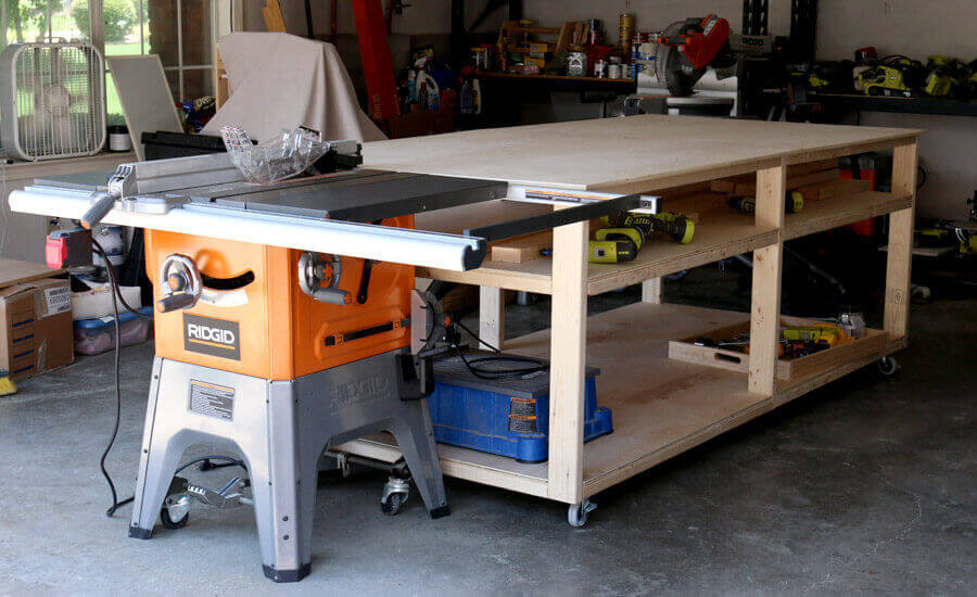 4×8 Workbench Outfeed Table