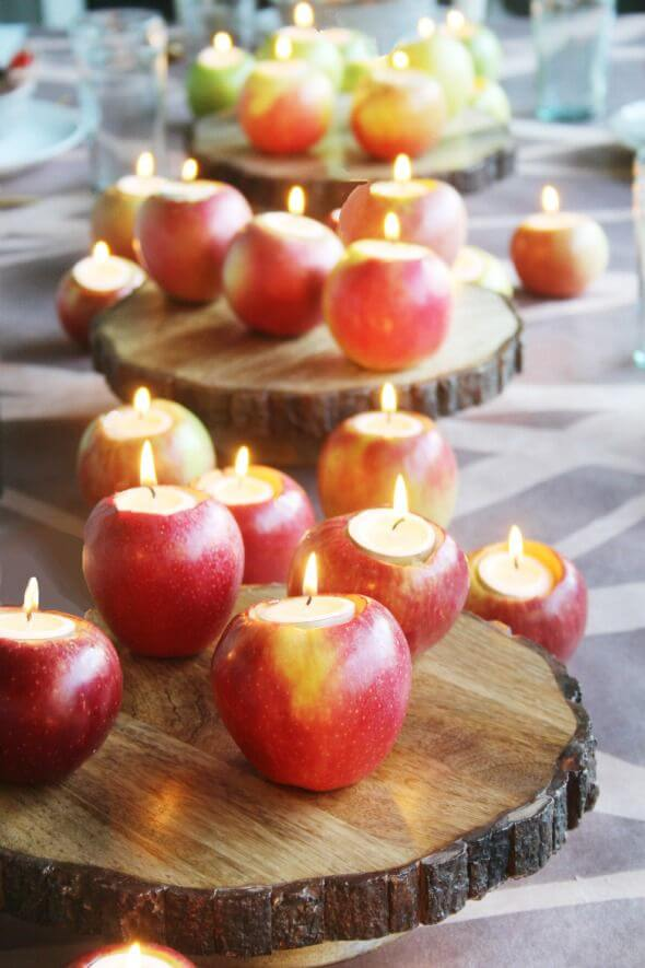 Apple Tea Light Candles