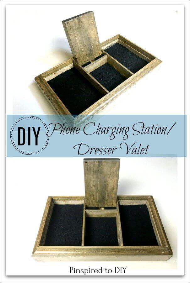 Cell Phone Charging Station/ Dresser Valet