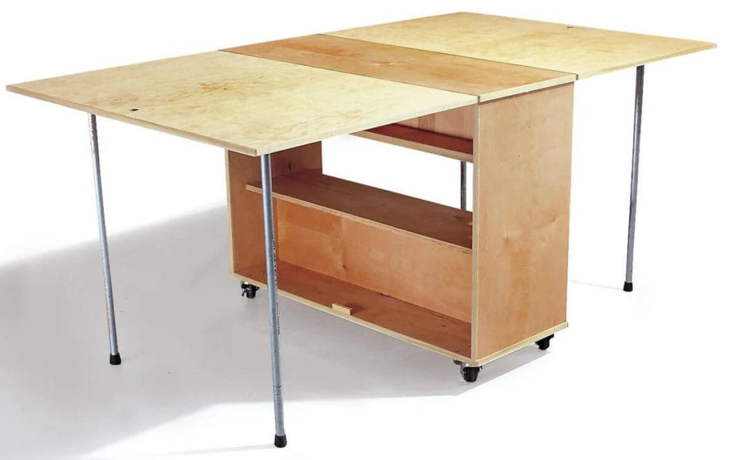 Compact Fold Away Workbench