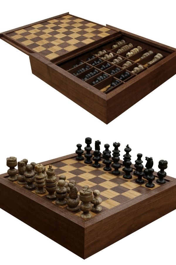 Custom Chess Board & Box