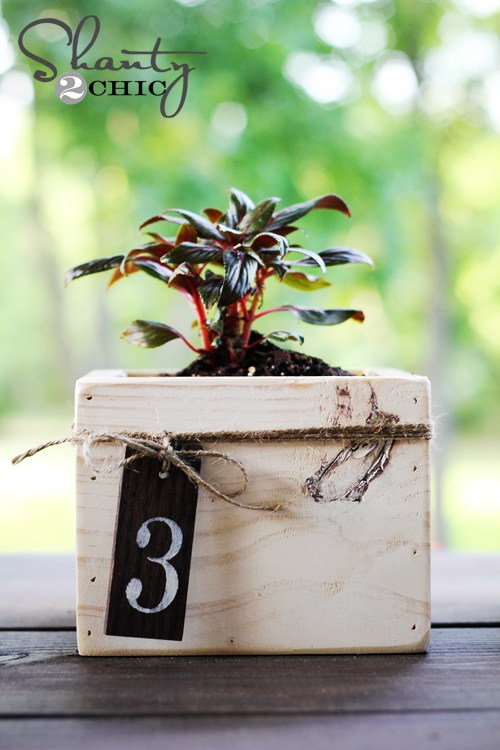 DIY Centerpiece Mini Planter Boxes