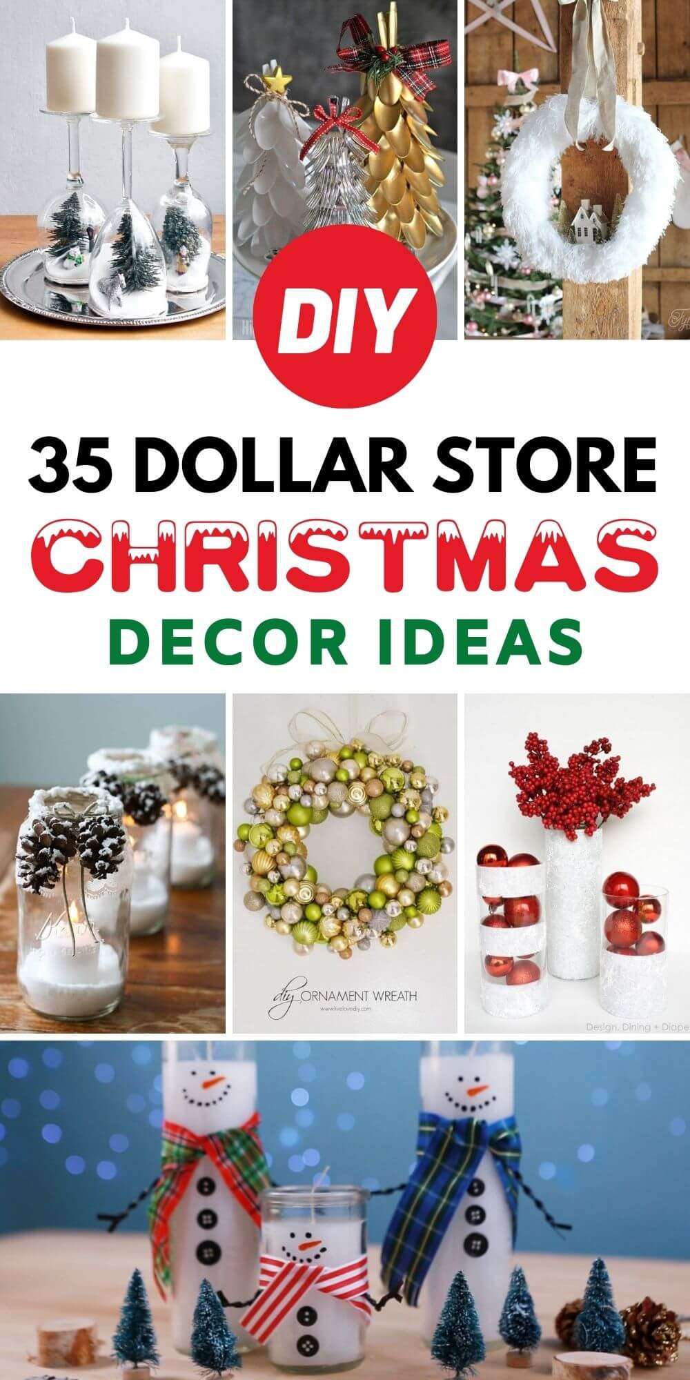 35 DIY Dollar Store Christmas Decor Ideas