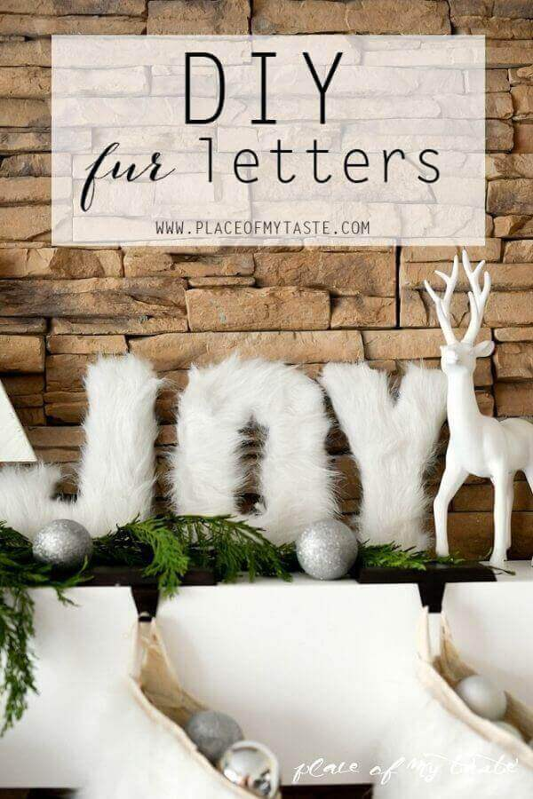 DIY Fur Letters