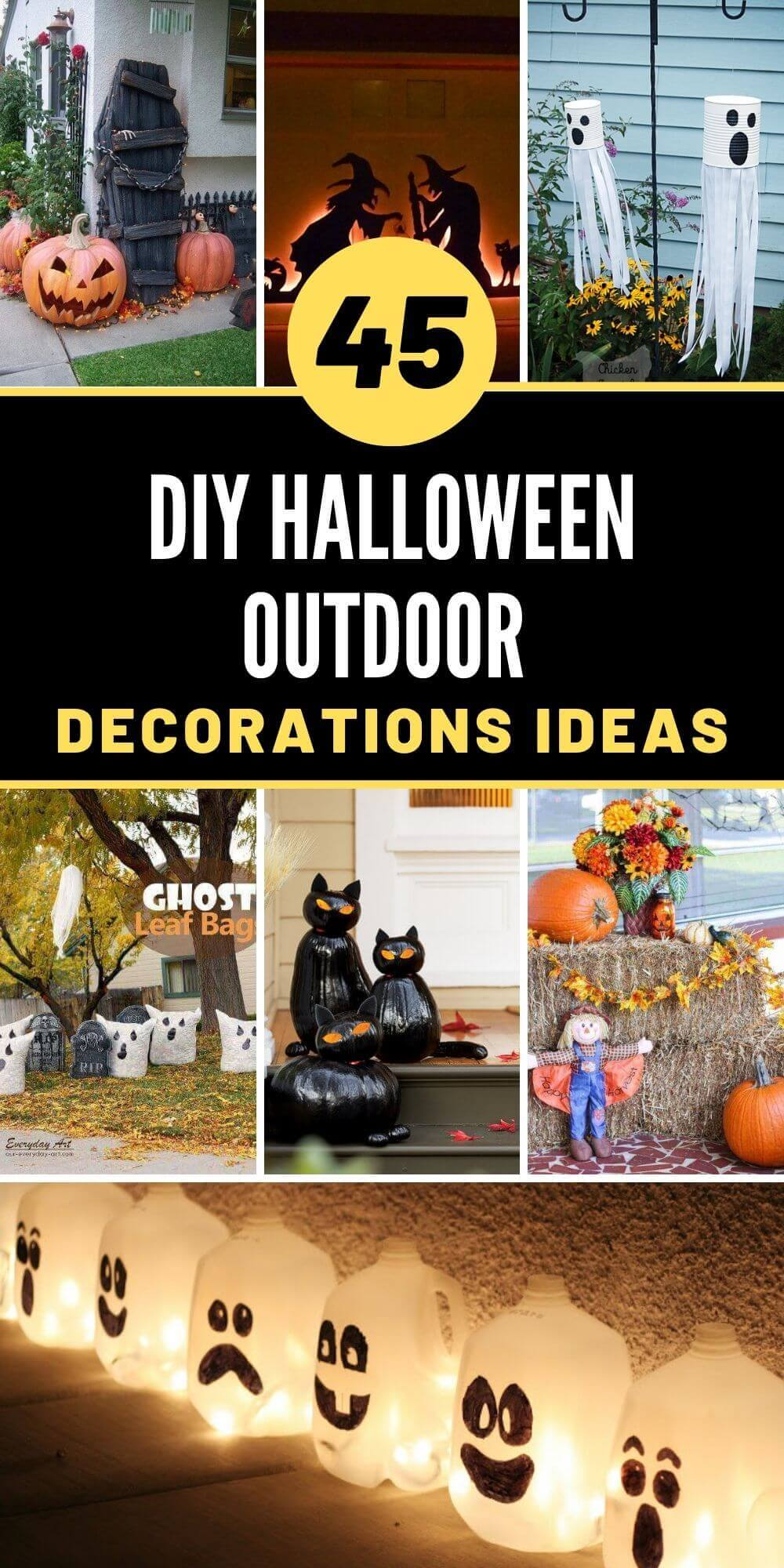 45 Best DIY Halloween Outdoor Decorations