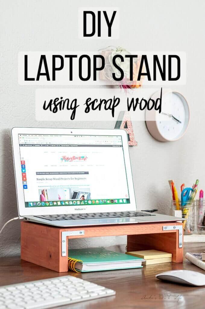 DIY Laptop Stand For Desk