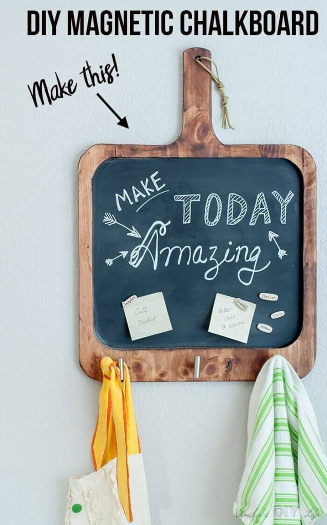 DIY Magnetic Chalkboard For The Kitchen