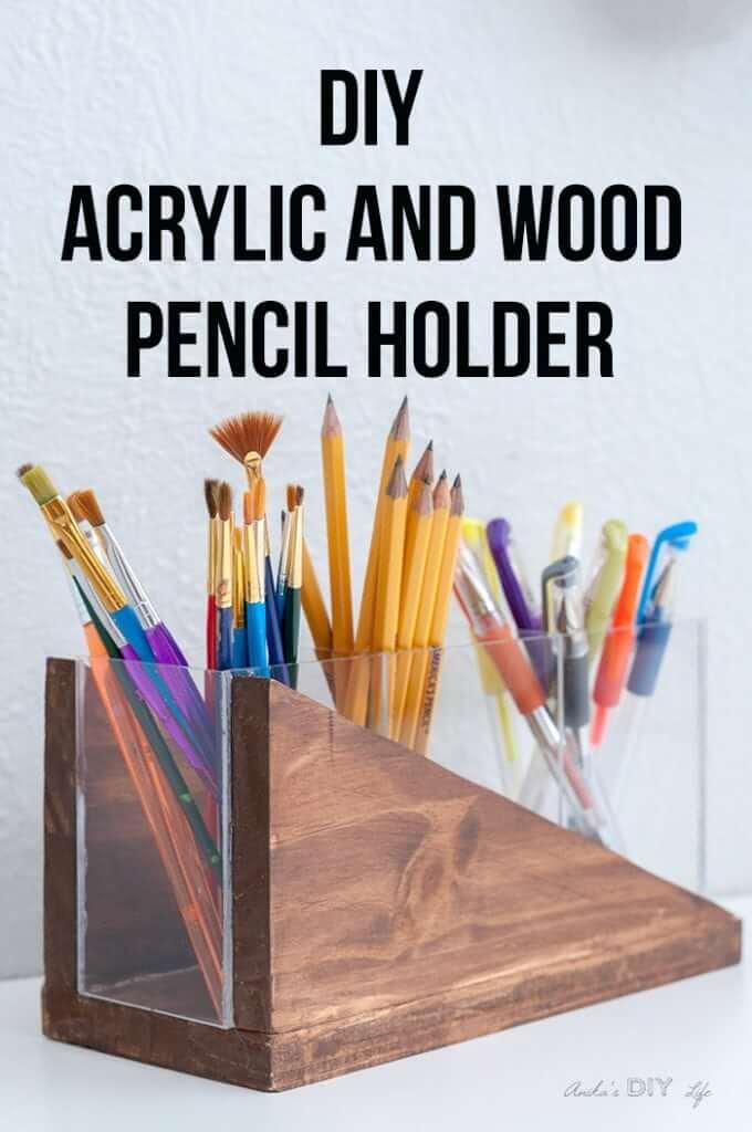 DIY Modern Pencil Holder