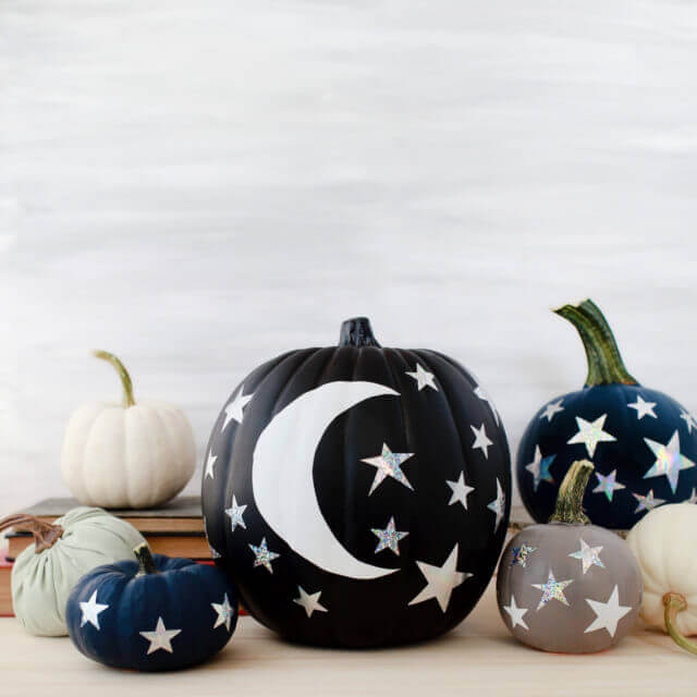 Moon And Stars Pumpkins