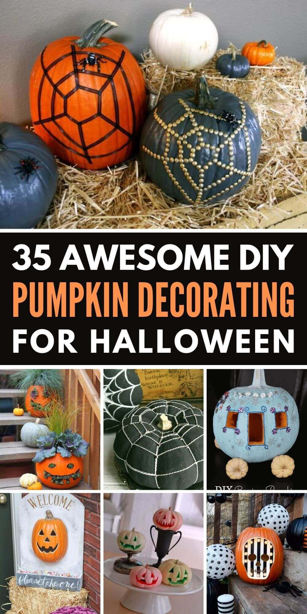 35 Awesome DIY Pumpkin Decorating Ideas For Halloween