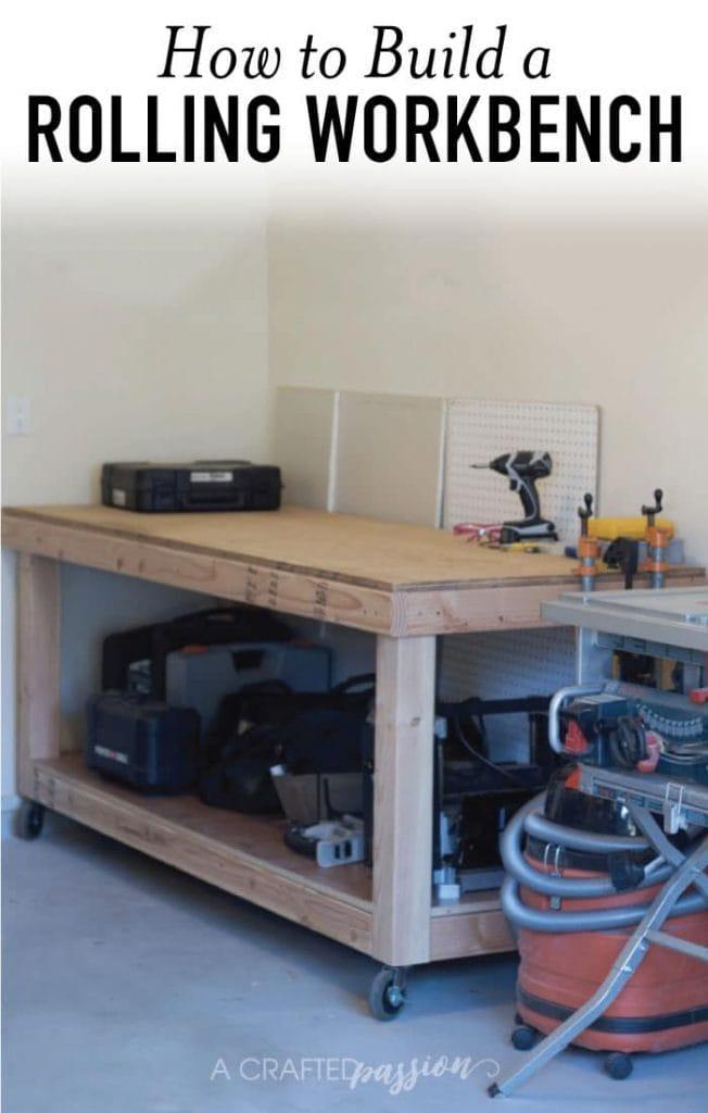 DIY Rolling Workbench