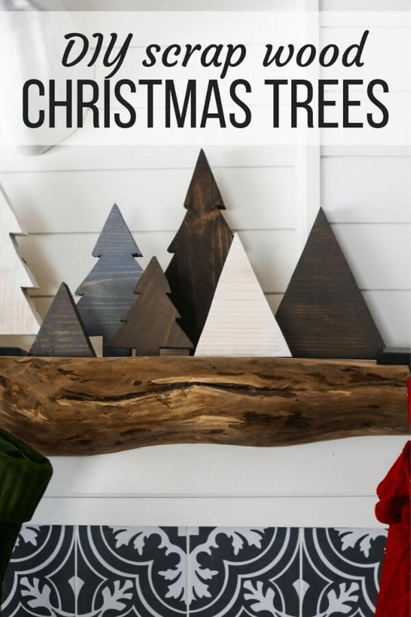 DIY Scrap Wood Christmas Trees