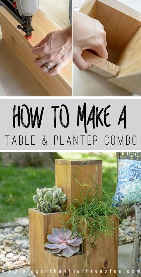 DIY Table Planter