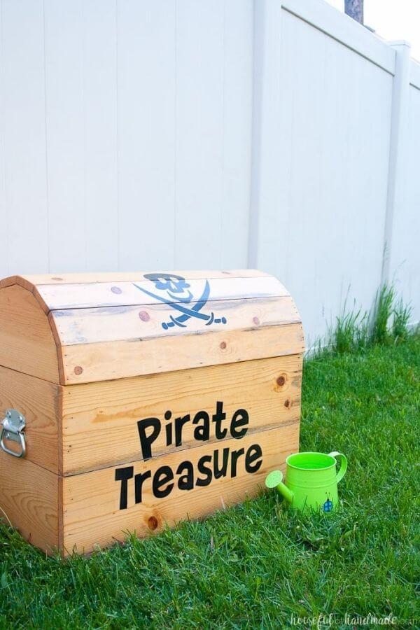 DIY Treasure Chest Toy Box