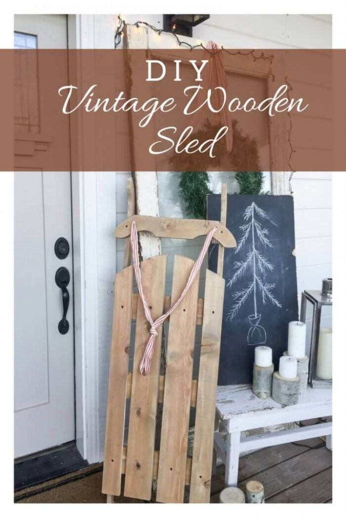 DIY Vintage Wooden Sled