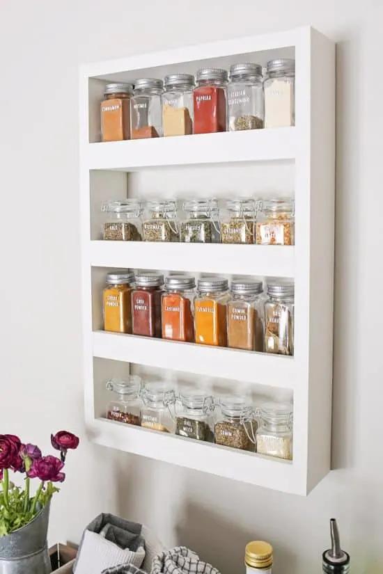 DIY Wall Spice Rack