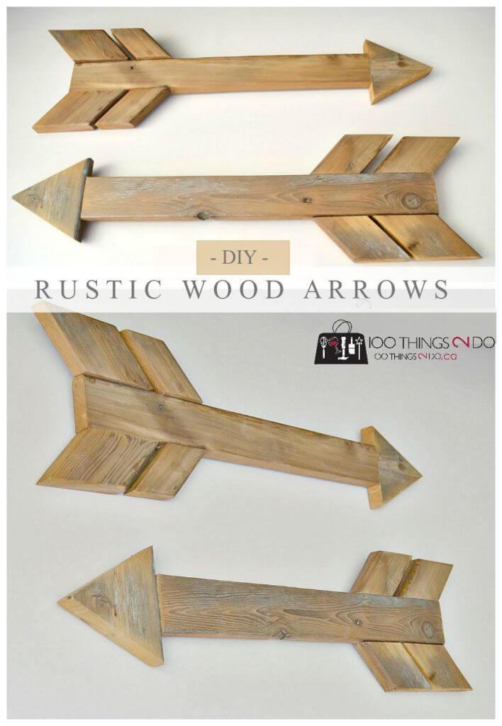 DIY Wood Arrows