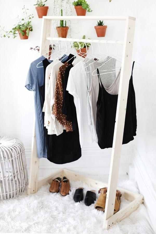 DIY Wooden Clothing Rack