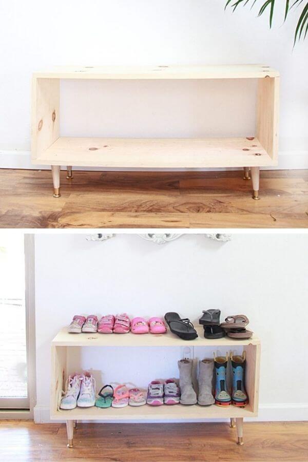 DIY Wooden Shoe Rack