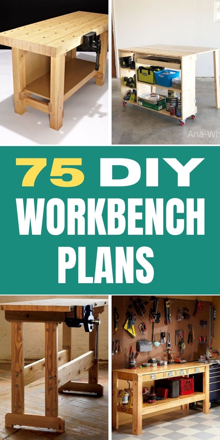 75 Free DIY Workbench Plans You Can Build
