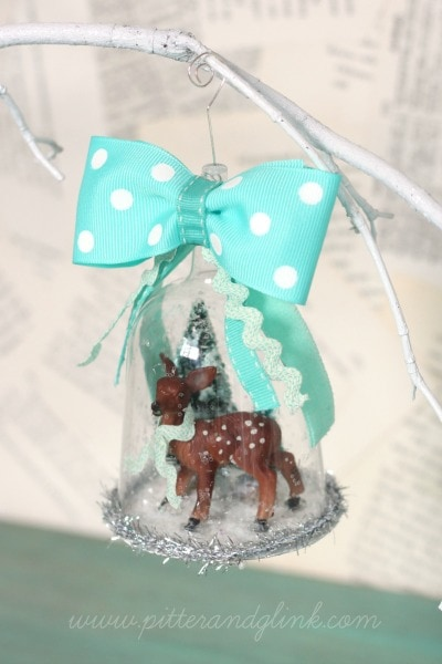 Deer Snow Globe Ornament
