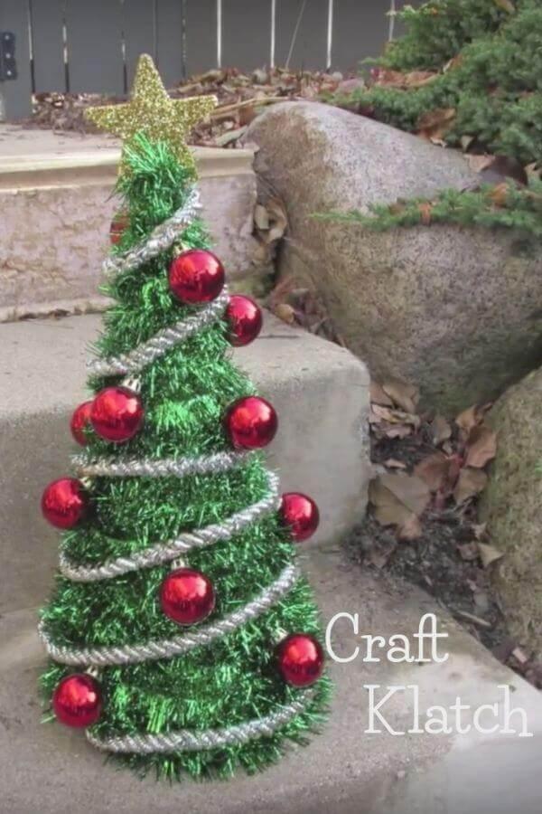 Dollar Store Craft Christmas Tree Decoration