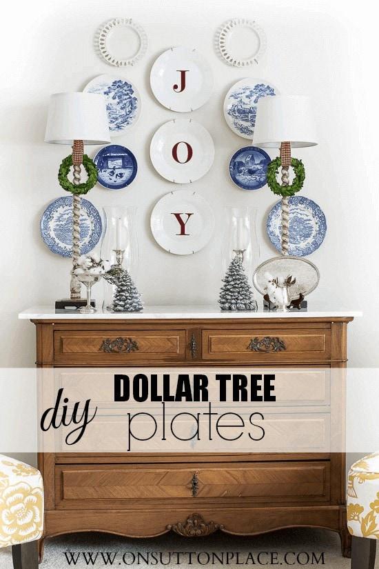 Dollar Tree JOY Plates Art