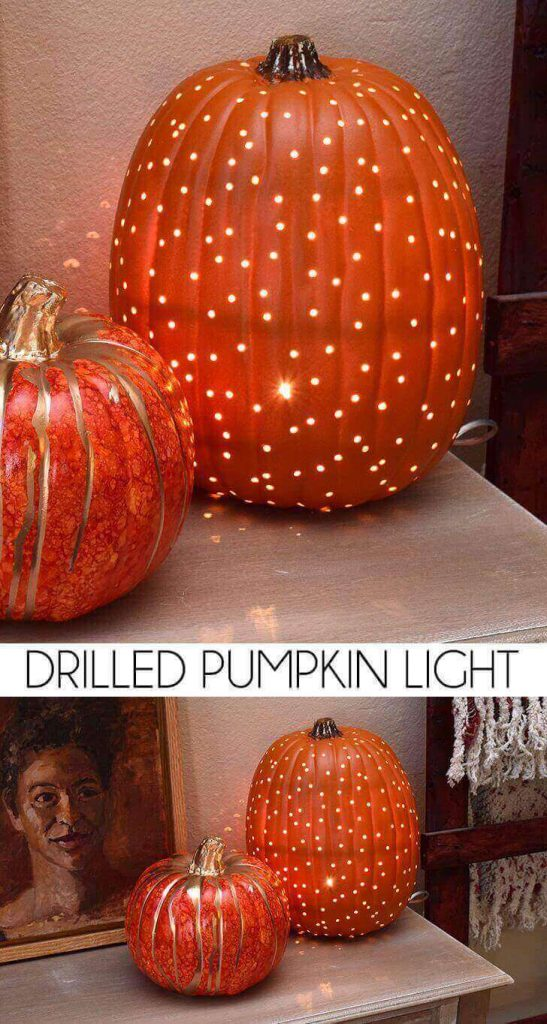 Drilled Pumpkin Light