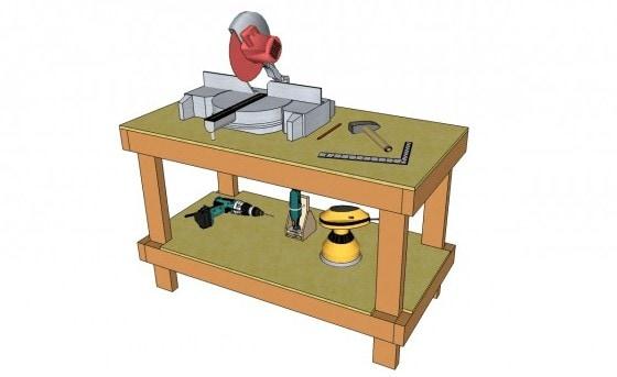 Easy 2×4 Garage Workbench