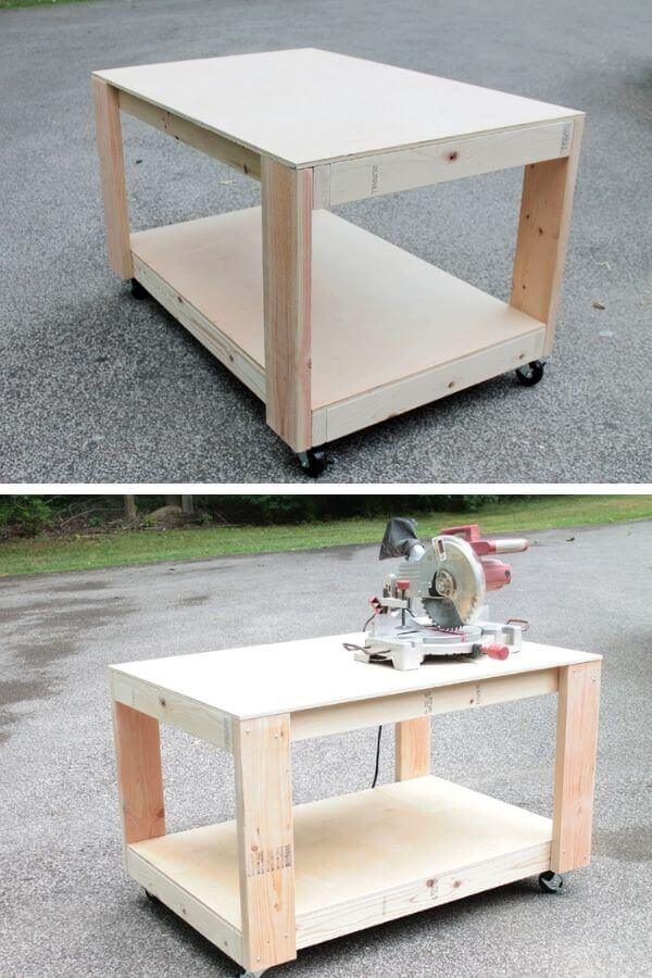 Easy Build 2×6 Workbench With Casters