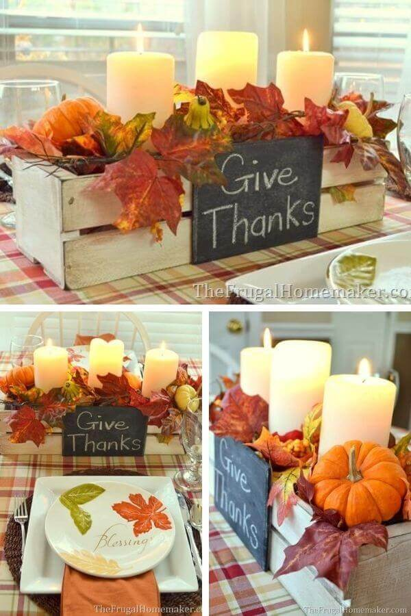 Easy Painted Centerpiece Box