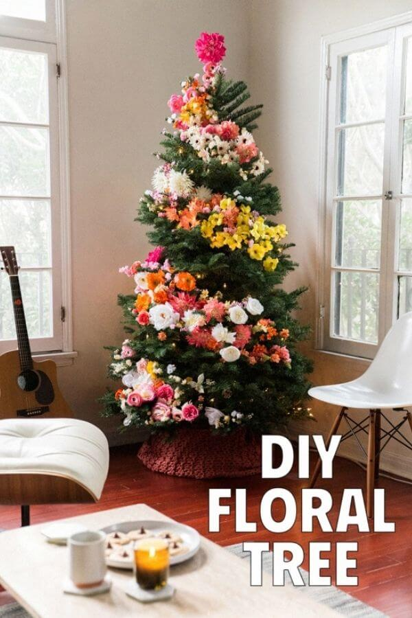 Floral Christmas Tree Garland