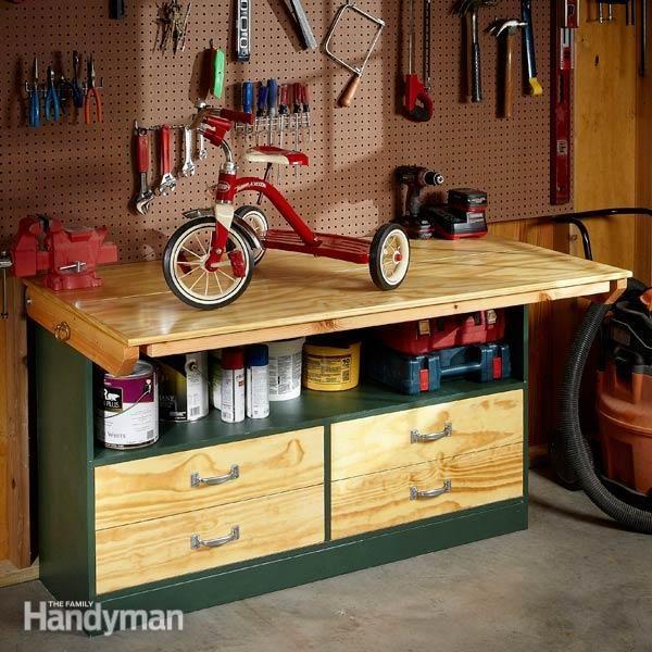 Fold-Down Workbench
