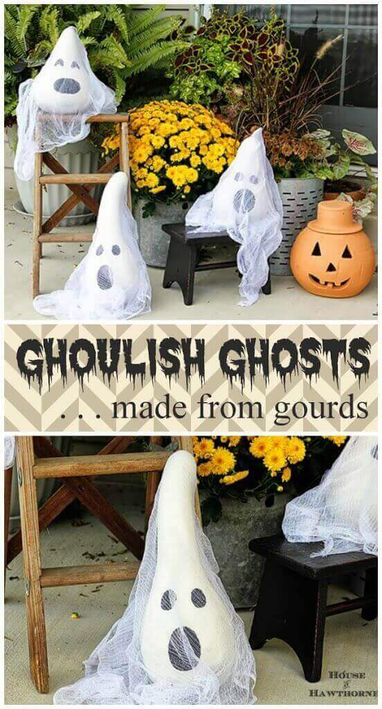 Ghost Made From Gourds