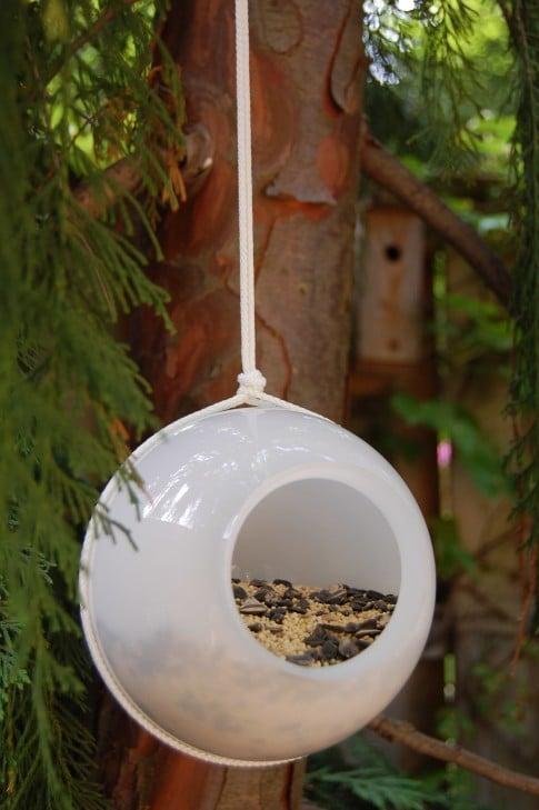 Glass Shades Bird Feeder