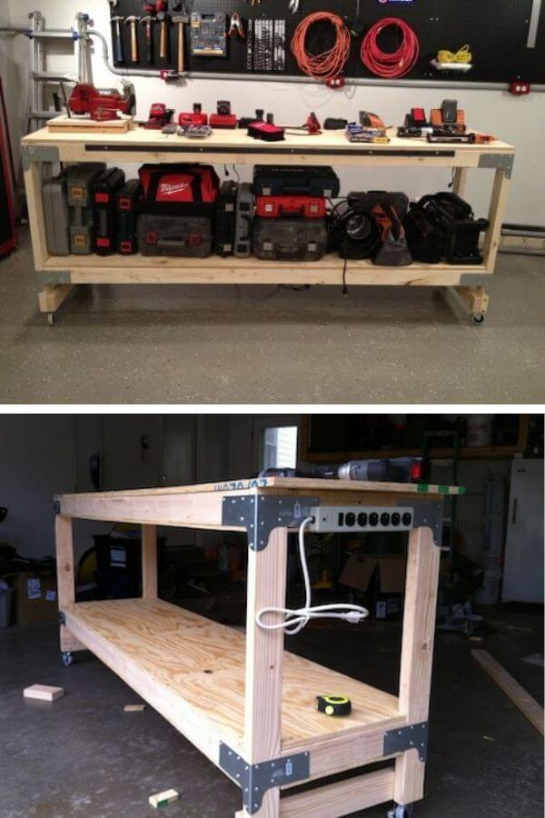 Heavy-Duty Workbench