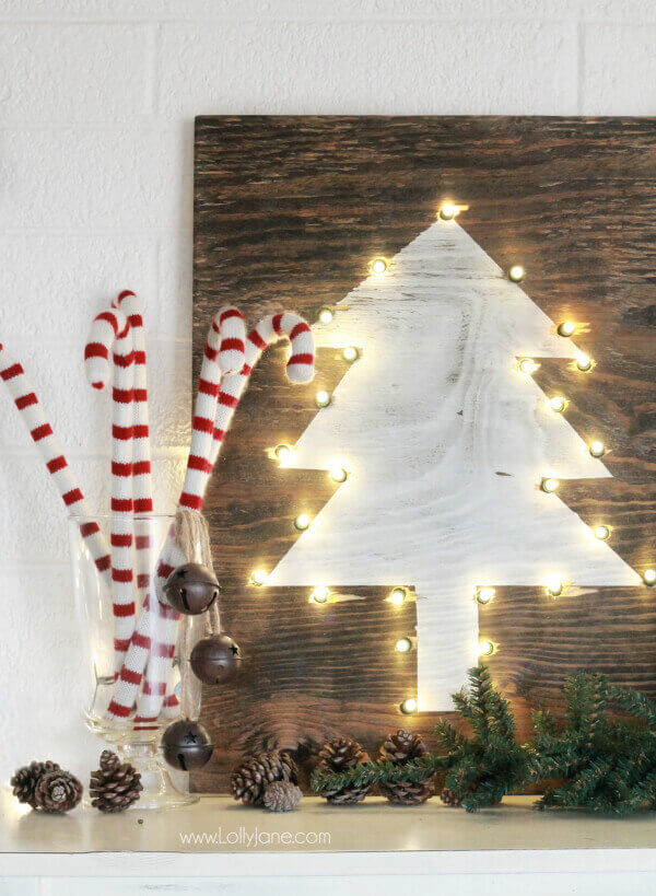 Holiday Tree Marquee Sign
