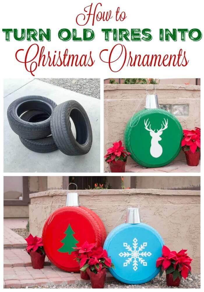 Giant Ornaments From Tires