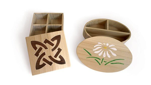 Inlaid Boxes With Compartments
