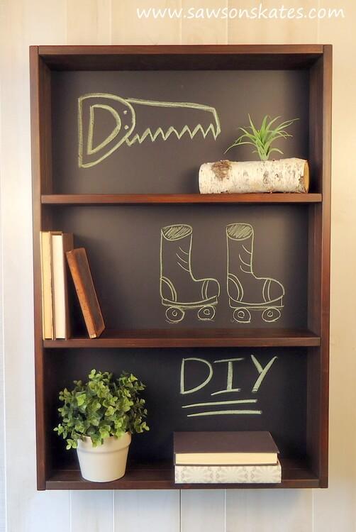 Knockoff Chalkboard Shelf