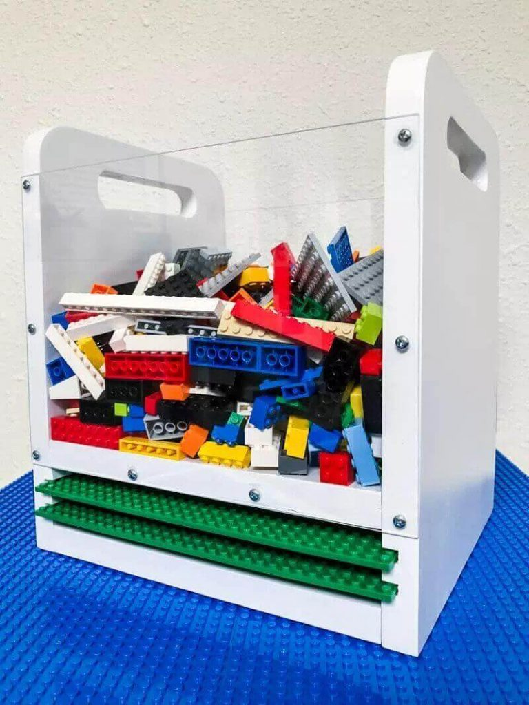 Lego Bin With Baseplate Storage