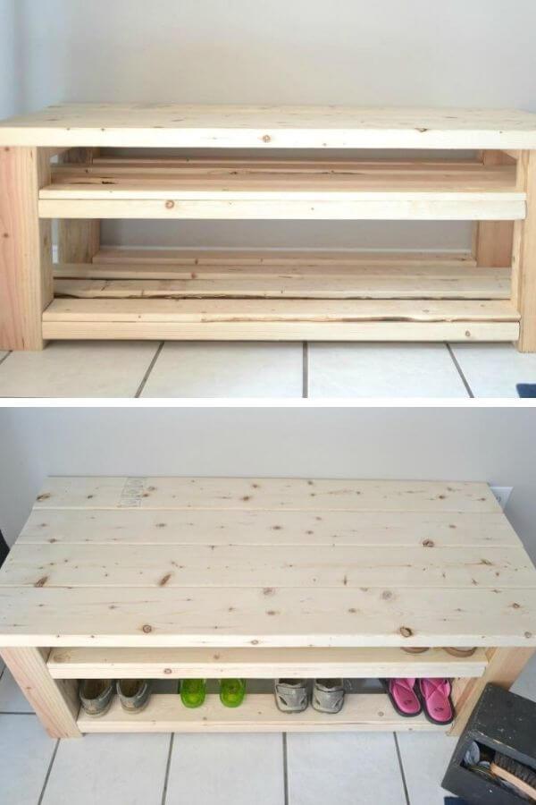 Mudroom Bench To Shoe Storage