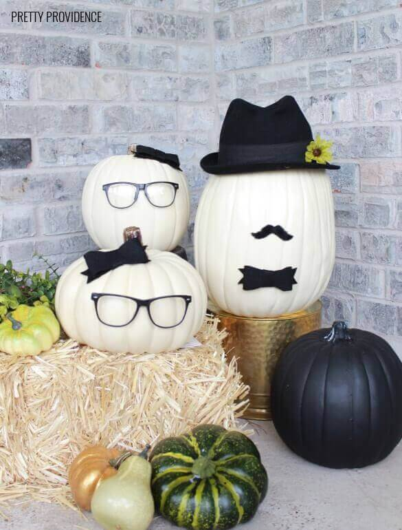 No Carve Pumpkin People