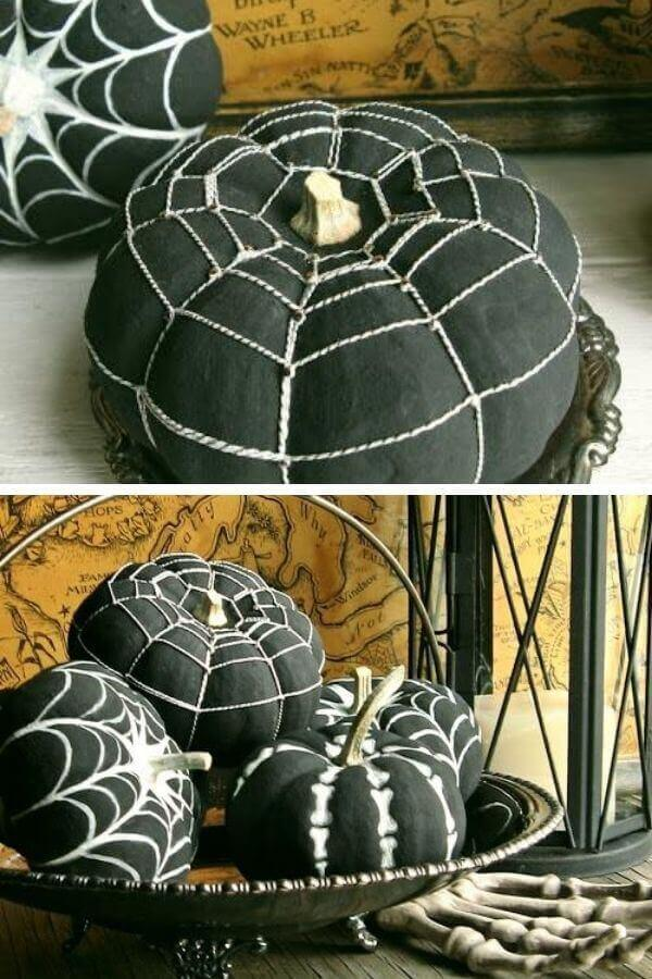 Playing With Petite Black Pumpkins