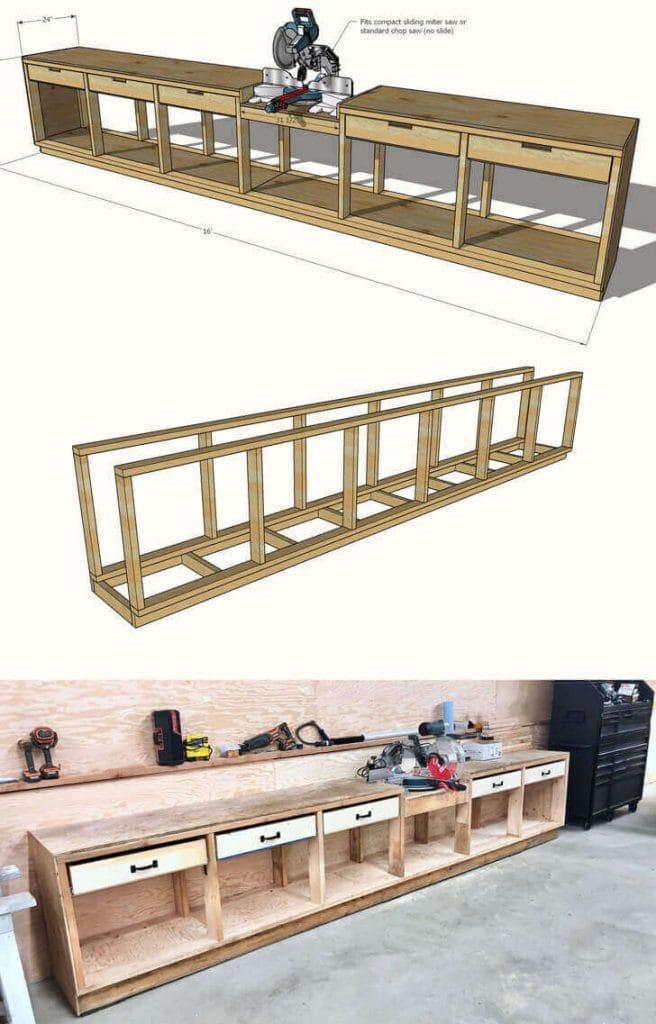 Pony Wall Workbench