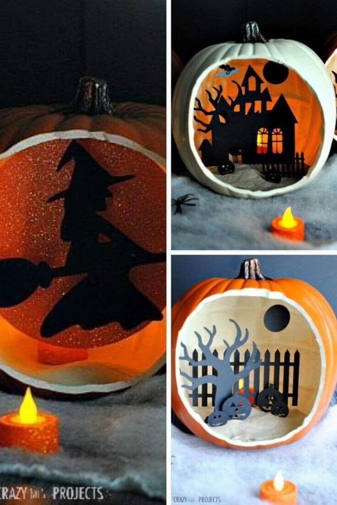 Shadow Box Pumpkins