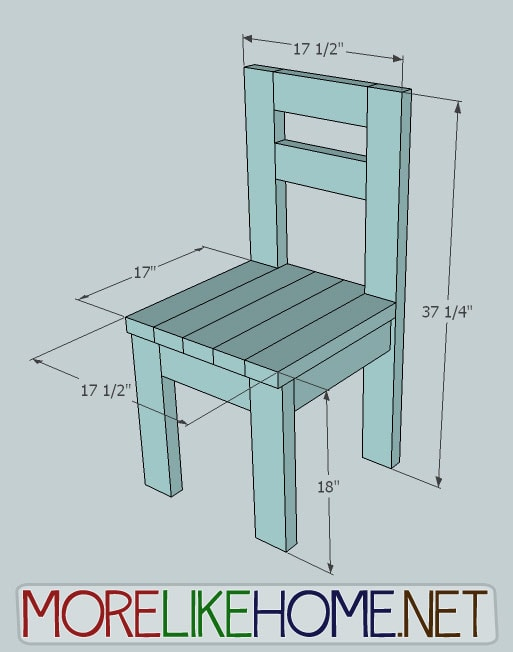 Simple Chair With 2x4s