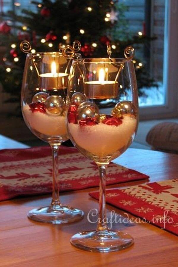 Tea Light Wine Glass Decoration